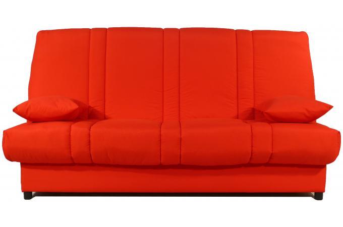 Banquette clic clac 130x190 rouge matelas mousse sofaflex 11cm kalideo design - Matelas mousse pour clic clac pas cher ...