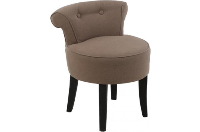 fauteuil crapaud taupe danny design pas cher sur sofactory. Black Bedroom Furniture Sets. Home Design Ideas