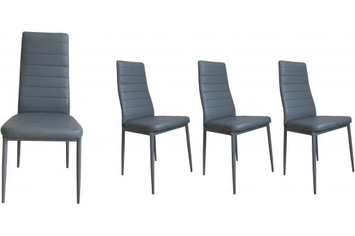 Lot de 4 Chaises GORDON grise