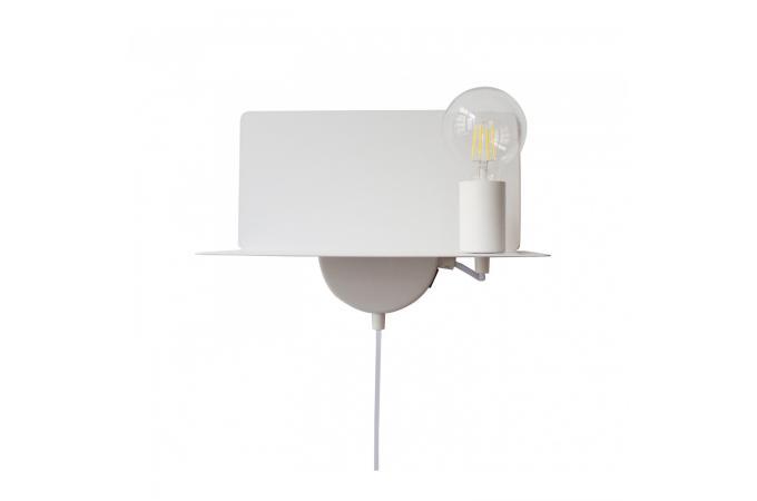 Applique ampoule usb blanc megyn déco design sur sofactory