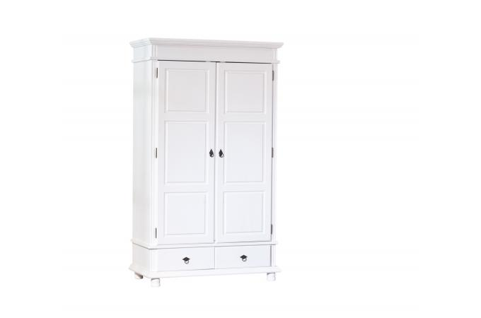 armoire 2 portes 2 tiroirs blanche paco design sur sofactory. Black Bedroom Furniture Sets. Home Design Ideas