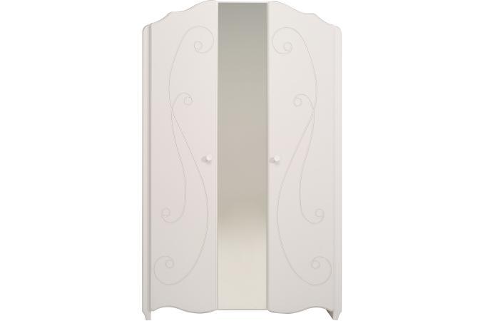 Armoire 2 Portes Pour Chambre Enfant Blanc Laqué ASTRID design sur ...