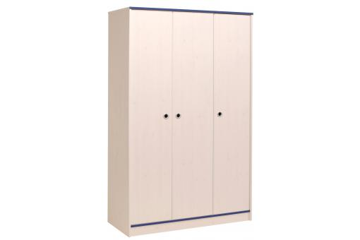 armoire 3 portes pour chambre enfant en pin rose ou bleu smooth design pas cher sur sofactory. Black Bedroom Furniture Sets. Home Design Ideas