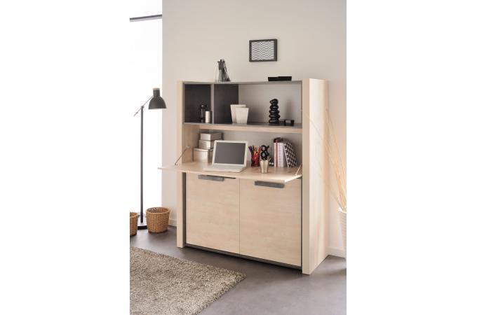 bahut haut 3 portes pin cendr b ton fonc oural design en direct de l 39 usine sur sofactory. Black Bedroom Furniture Sets. Home Design Ideas
