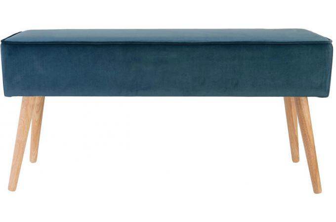 Banc Scandinave En Velours Bleu Foncé Velvita Design Sur Sofactory