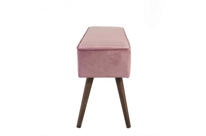 Banc Scandinave En Velours Rose Velvita Design Sur Sofactory
