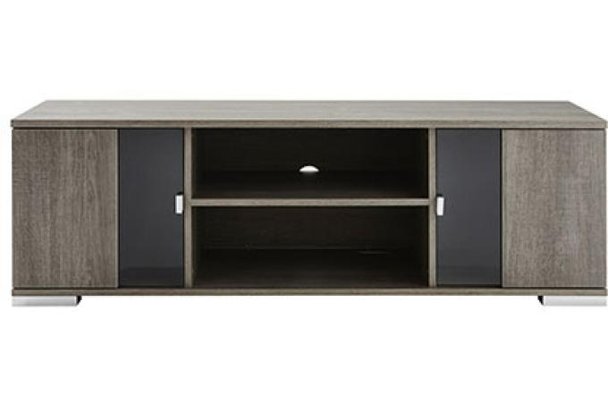 Banc tv 2 portes 1 niche ch ne prata name design pas cher for Banc tv chene