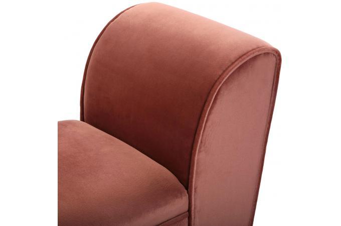 Banc Velours Rose Quinto Design Sur Sofactory
