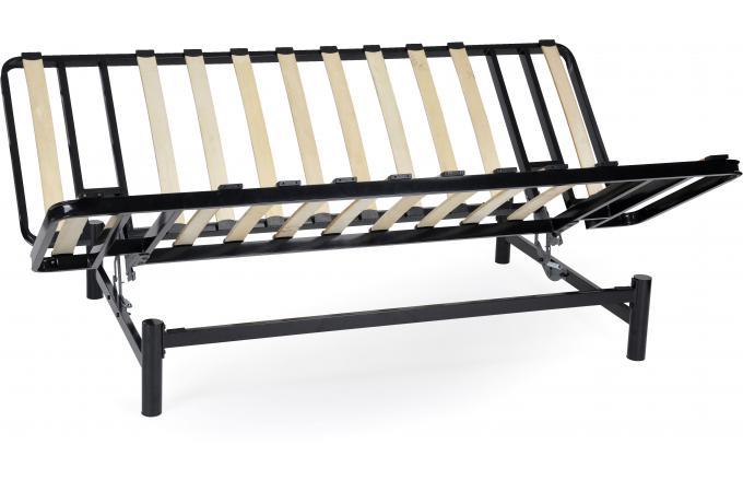 banquette clic clac m tal noir structure seule plus design sur sofactory. Black Bedroom Furniture Sets. Home Design Ideas