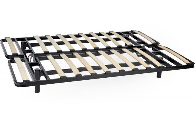 banquette clic clac m tal noir structure seule plus design. Black Bedroom Furniture Sets. Home Design Ideas