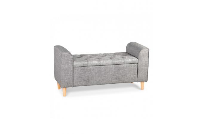 banquette coffre design tissu anthracite eleonore design sur sofactory. Black Bedroom Furniture Sets. Home Design Ideas