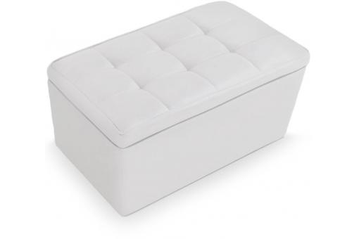 Banquette coffre imitation cuir blanc gama design en direct de l 39 usine su - Banquette cuir blanc ...