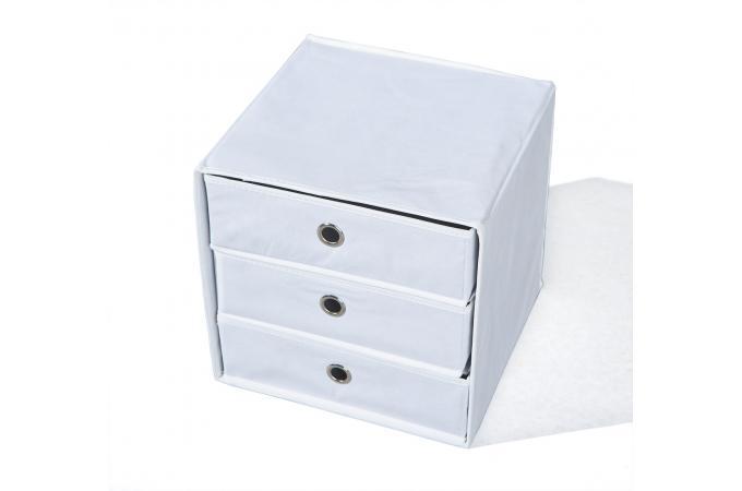 boite de rangement 3 tiroirs blanche polly design sur sofactory. Black Bedroom Furniture Sets. Home Design Ideas