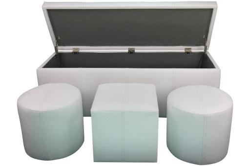 bout de lit coffre blanc nisa design pas cher sur sofactory. Black Bedroom Furniture Sets. Home Design Ideas