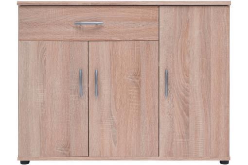 Buffet 3 portes 1 tiroir ch ne felice design sur sofactory for Sideboard 3 00 m
