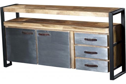 buffet en bois et m tal chrisis design pas cher sur sofactory. Black Bedroom Furniture Sets. Home Design Ideas