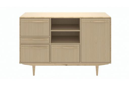 buffet scandinave effet ch ne blanchi 180x50cm akra design sur sofactory. Black Bedroom Furniture Sets. Home Design Ideas