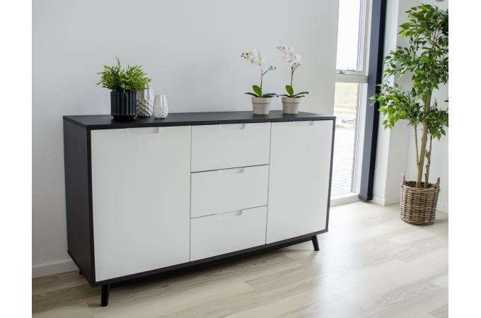 Buffet Scandinave Noir et Blanc AXEL design sur SoFactory