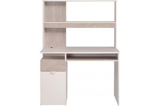 Bureau etagère beige et blanc edwyn design sur sofactory