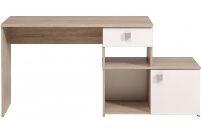 Meuble etagere pour bureau coloris blanc armoire portes tiroir charly couleu - Bureau etagere pas cher ...