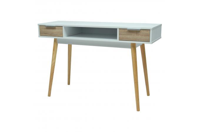 Bureau blanc style scandinave tiroirs u collection neptun