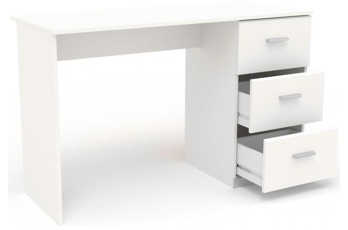 Bureau 3 tiroirs blanc navanir design sur sofactory