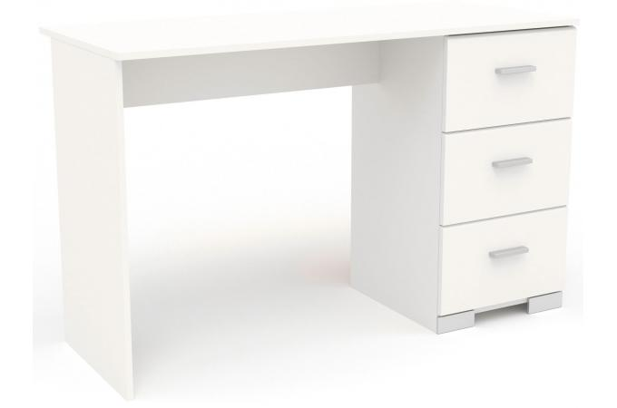 Bureau tiroirs blanc navanir design sur sofactory