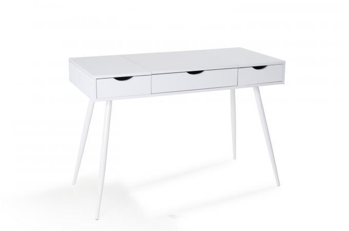 Bureau 3 tiroirs blanc karama design sur sofactory