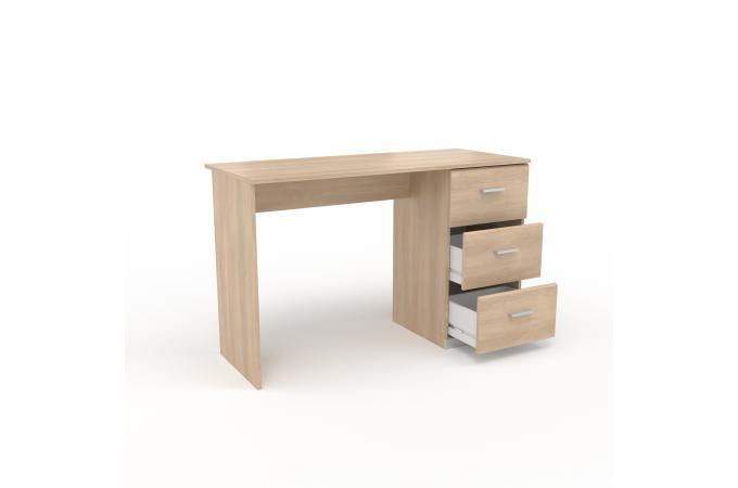 Bureau 3 tiroirs chêne navanir design sur sofactory