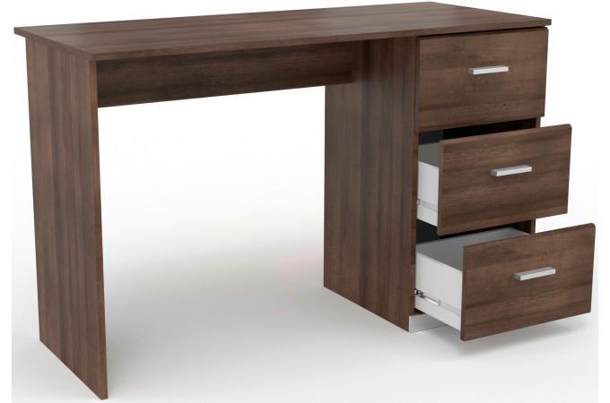 Bureau tiroirs noyer navanir design sur sofactory