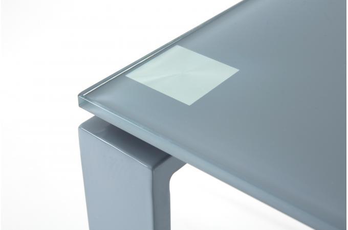 Bureau acier et verre gris cm etokia design sur sofactory