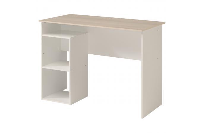 bureau avec rangement acacia blanc louis design sur sofactory. Black Bedroom Furniture Sets. Home Design Ideas