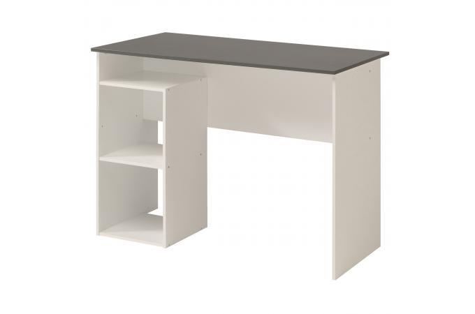 Bureau avec rangement gris blanc louis design sur sofactory