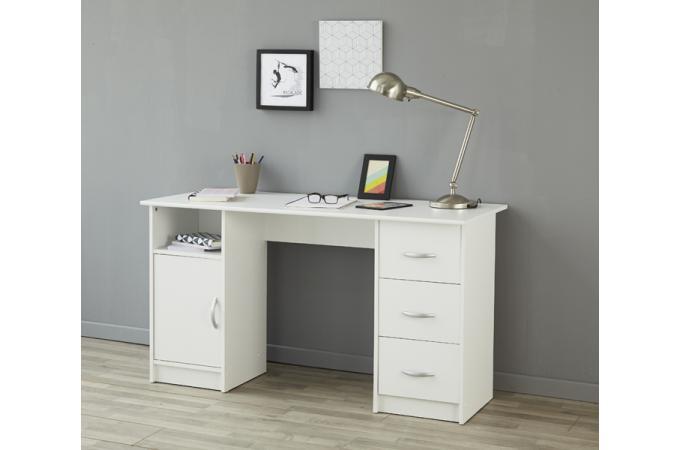 Bureau avec rangements blanc galacha design sur sofactory