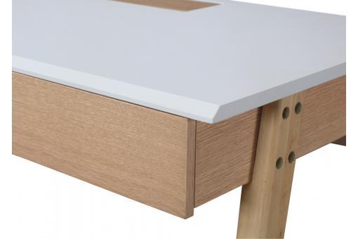 bureau bois blanc 120 nyarf design sur sofactory. Black Bedroom Furniture Sets. Home Design Ideas