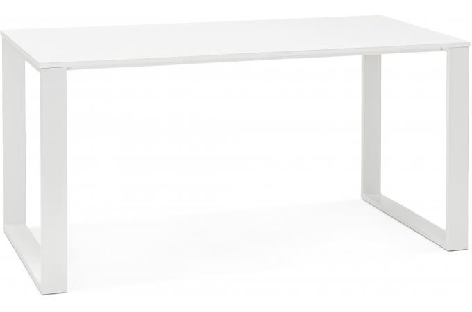 bureau bois blanc 75x150 diss design sur sofactory. Black Bedroom Furniture Sets. Home Design Ideas