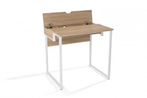 bureau design blanc et bois gorina design sur sofactory. Black Bedroom Furniture Sets. Home Design Ideas