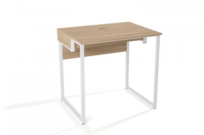 Bureau design blanc et bois gorina design sur sofactory - Bureau bois et blanc ...