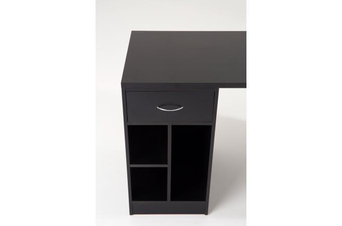 Bureau et armoire de rangements noir scoli design sur sofactory