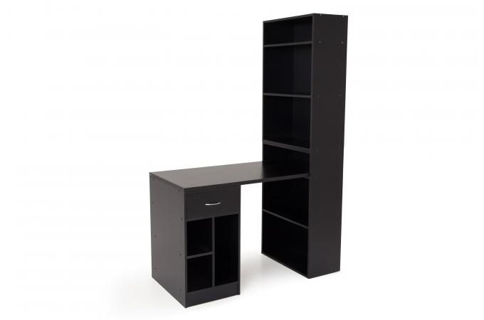 bureau et armoire de rangements noir scoli design sur sofactory. Black Bedroom Furniture Sets. Home Design Ideas