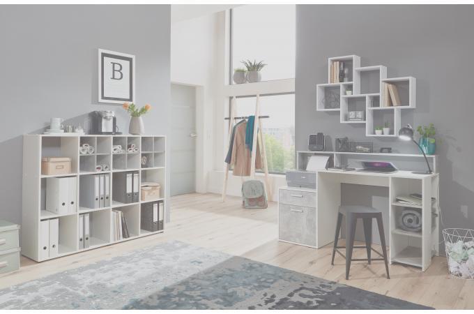 Bureau gris béton blanc nurbl design sur sofactory