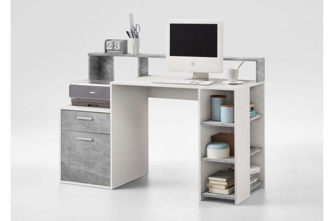 bureau gris b ton blanc nurbl design sur sofactory. Black Bedroom Furniture Sets. Home Design Ideas
