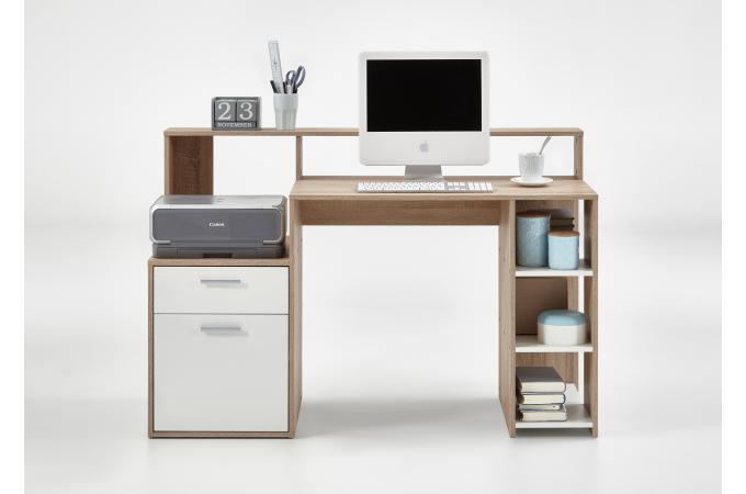 Bureau marron bois blanc nurbl design sur sofactory