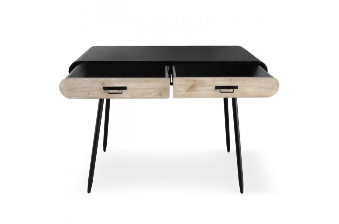 Bureau métal noir 2 tiroirs styan design sur sofactory