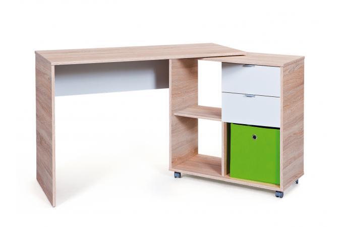 bureau modulable avec 4 espaces de rangement bois hellene design sur sofactory. Black Bedroom Furniture Sets. Home Design Ideas