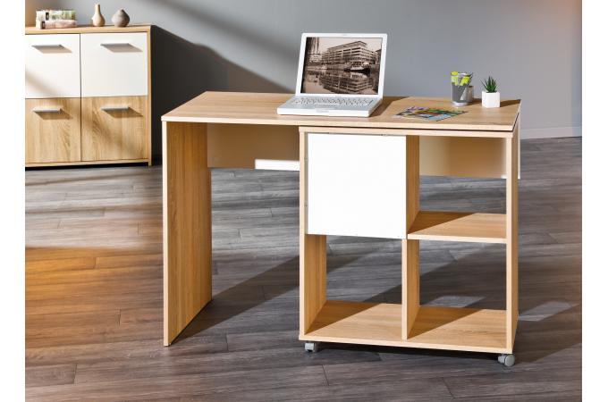 Bureau Blanc Modulable : Bureau modulable avec espaces de rangement bois hellene design