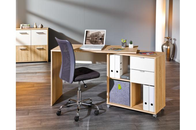 Bureau modulable avec espaces de rangement bois hellene design