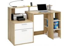 Bureau multimedia bicolore avec rangements WORKLIFE