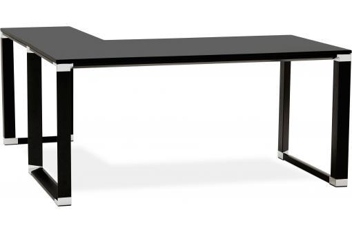 bureau d 39 angle noir 160x170x74 cm brand design sur sofactory. Black Bedroom Furniture Sets. Home Design Ideas