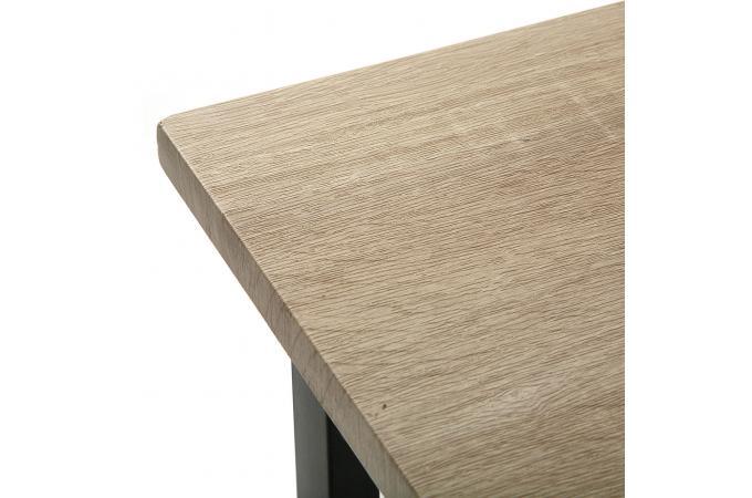 Bureau pliable industriel bois et m tal evamon design sur - Bureau industriel bois et metal ...